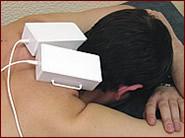 Субокципитальная методика применения парного призматического излучателя.