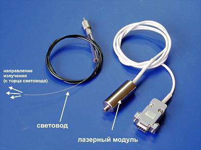 Дополнительный лазерный модуль и световод к аппарату