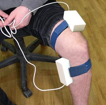 Расположение призм парного призматического излучателя при лечении облитерирующих эндартериитов